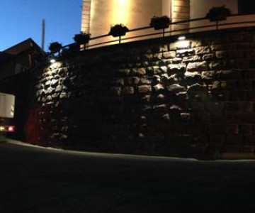 Mise en lumière d'une église