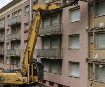 Démolition de balcons à Sarreguemines